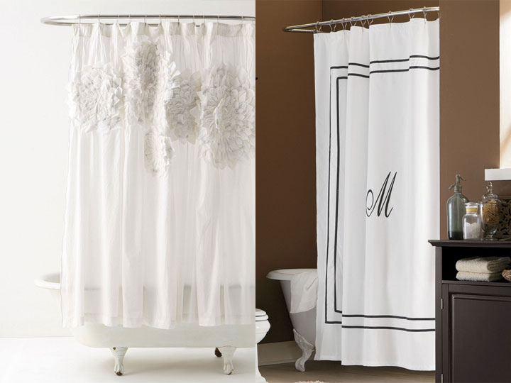 what is a monogram shower curtain